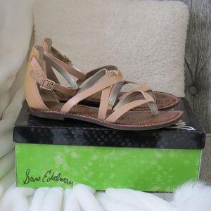 Sam Edelman Gilroy Natural Leather Sandals 8.5